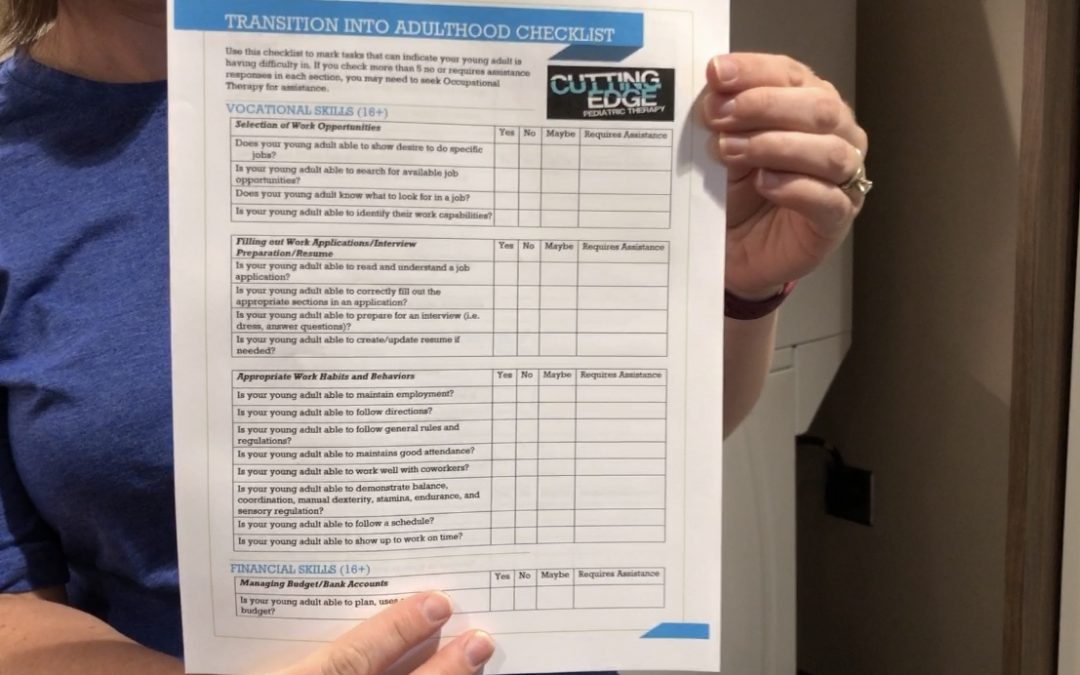 Transition to Adulthood Checklist For Special Needs Kids